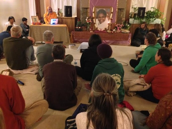 Br. Dayamrita Chaitanya will hold Wednesday Evening Class on April 9, 16 and 23