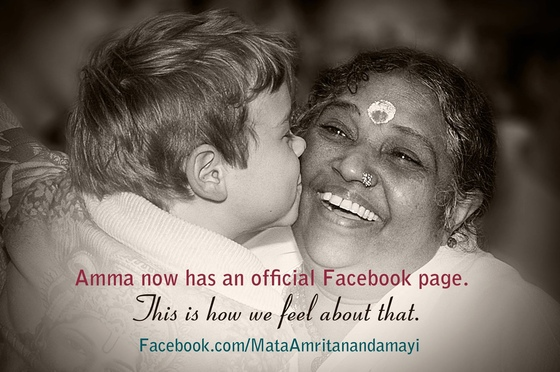 We are pleased to announce Amma's official Facebook page