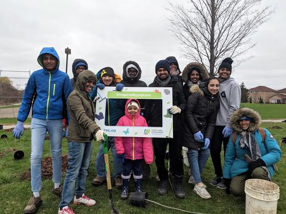 AYUDH tree planting group photo