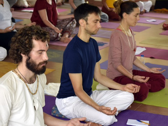 People sitting in meditation