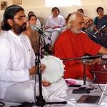 Ramanandji and Swami Ramakrishnanada singing bhajans together