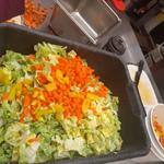 Dish of chopped salad