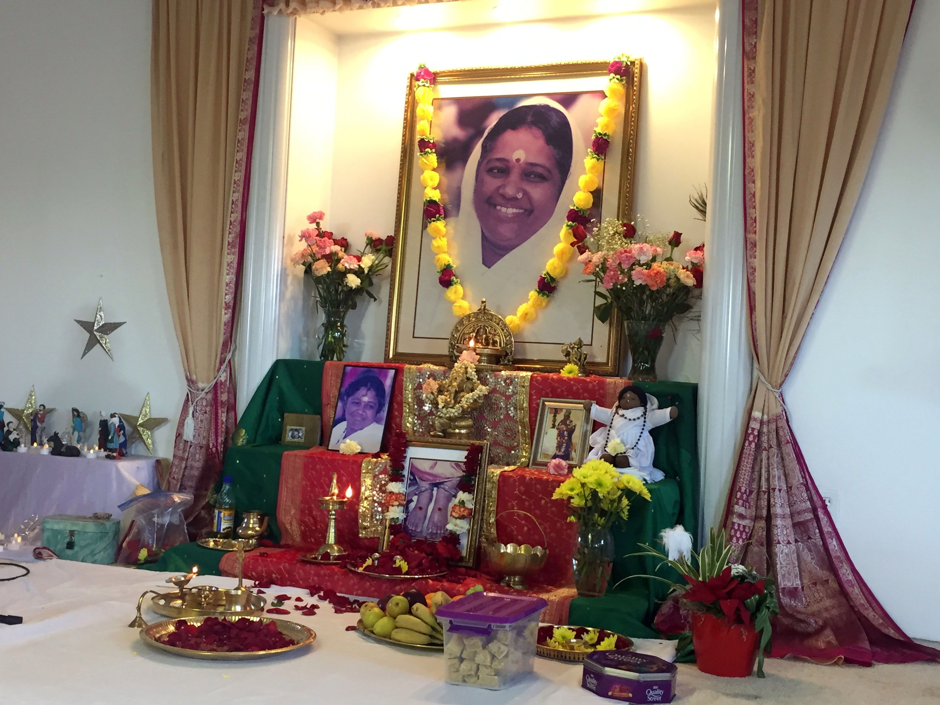 Altar with Amma's photo