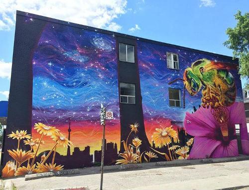 Nick Sweetman's Sweat Bee Mural, Howland & Bloor, Toronto, Canada